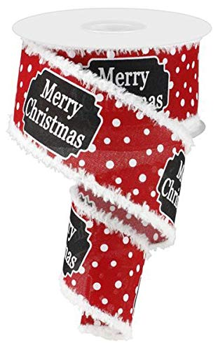 Fluffy Edge Merry Christmas Ribbon - 2 1/2