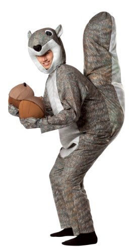 Animal Costumes - Rasta Imposta Squirrel Costume, Gray, One Size