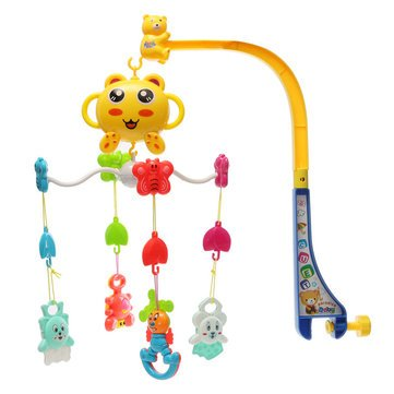 Baby Plaything Song Baby Crib Bed Bell Mobile Kid Toy Electric Musical Fun Comfortable Cute Toys - Learning & Education Developmental Toys - 1 x Baby hanging Bed Rattle Toy
