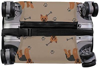 スーツケースカバー ヨークシャーテリア 犬柄 伸縮素材 キャリーバッグ お荷物カバ 保護 傷や汚れから守る ジッパー 水洗える 旅行 出張 S/M/L/XLサイズ