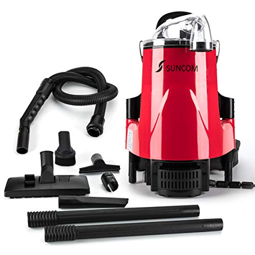 """Commercial Backpack Vacuum, 19lb Corded Canister Vacuum Cleaner for Restaurant Industrial (21"""" x 13"""" x 10"""")"""