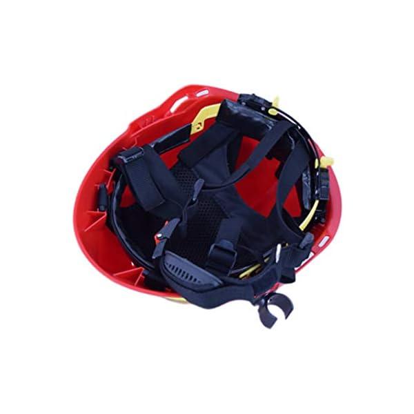 YUYUE21 Casquillo de Seguridad de protección de Casco de Rescate de terremoto con Gafas Sombrero de Bombero 12