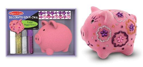 Melissa Doug Fuzzy Piggy Bank