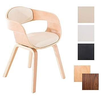 Stühle modern mit armlehne  CLP Retro Besucher-Stuhl KINGSTON mit Armlehne, gepolstert ...