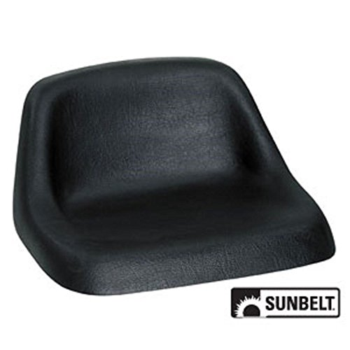 A & I Lowback Universal Lawn Mower Seat - Black