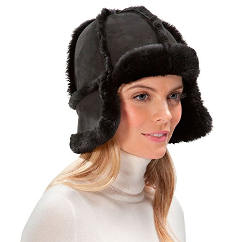 Eric Javits Luxury Fashion Designer Women's Headwear Hat - Mum - Black