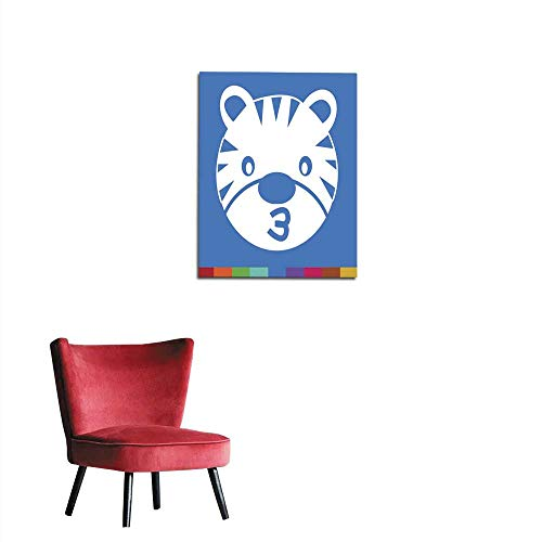longbuyer Wall Paper Tiger Face Emotion Icon Illustration Sign Design Mural 20