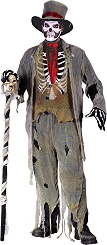 [Holiday Times Unlimited Inc Men's Gauze Groom Costume Multicoloured One Size] (Zombie Ribs Costume)