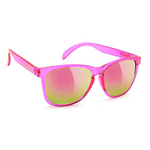 (Glassy Sunglasses Glassy Deric Sunglasses - Transparent Pink/Pink Mirror Cancer Hater)