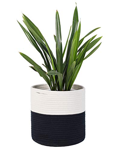- YXMYH Sturdy Woven Cotton Rope Plant Basket for 10