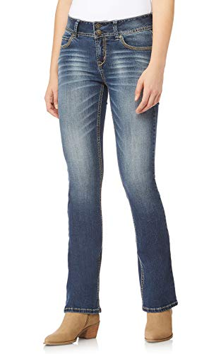 WallFlower Junior's Instastretch Luscious Curvy Bootcut Jeans, Magic, 7 Short ()