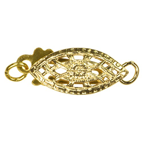 uGems 3 14K Gold Filled Fillgree Fish Clasps - Clasp 14k Gold Filigree