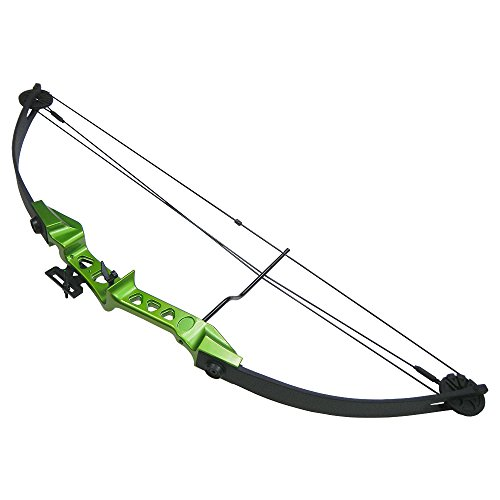 19-29 lb Green Archery Hunting Compound Bow +Quiver +Armguard +Finger Tab +2 26