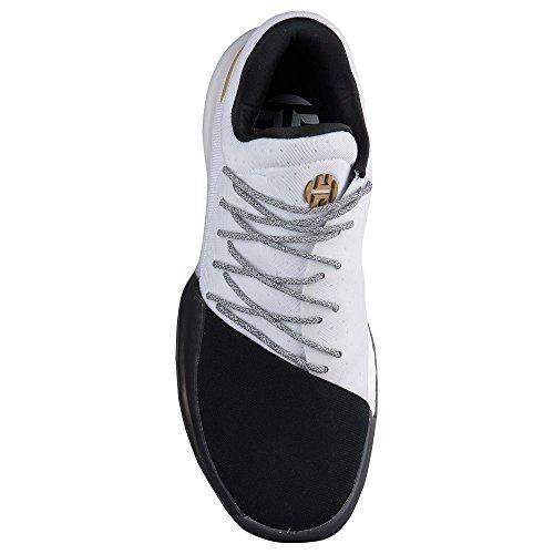 Adidas Hårdnar Vol.1 Sko Mens Basket Vit / Svart / Guld
