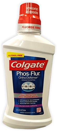 Colgate Phos-Flur Anti-Cavity Fluoride Rinse, Gushing Grape, 16.9 Fluid Ounce