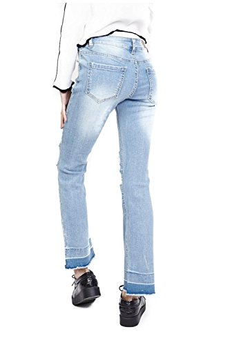 de Vaqueros Azul Vintage Rotura Dama Jeans DCE LEMON TREE Mujer Rodillas MODA atxqwOU
