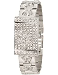 Burgi Womens BUR068SS Diamond Butterfly Cover Quartz Watch