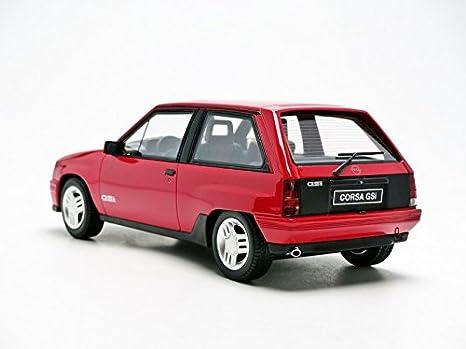 Otto Mobile ot180 - Opel Corsa GSi - 1988 - Escala 1/18 - rojo: Amazon.es: Juguetes y juegos