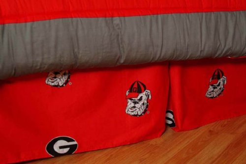 Top 1 georgia bulldogs queen complete bed set