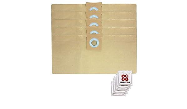 Spares2go - 5 bolsas de polvo para aspiradora Titan 16L 20L 30L ...