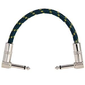 Crazo del pedal cable CL-01 Verde oscuro, longitud del cable: alrededores 24,4 cm