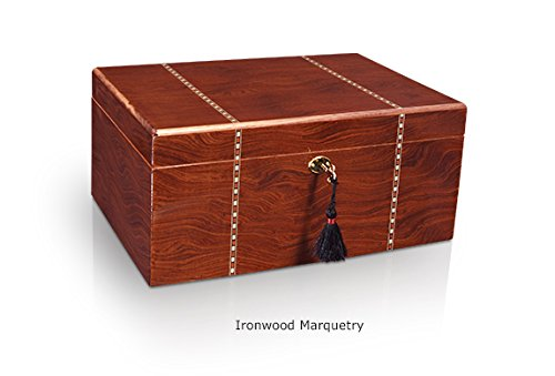 Savoy Large Ironwood Marquetry Humidor - (100 Cigars)