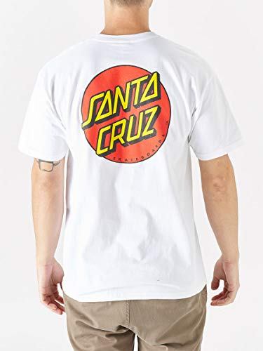 Santa Cruz Classic Dot Chest T-Shirt White (Large)