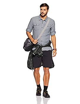 Columbia Men's Silver Ridge Cargo Shorts, Black, 36 X 12 4