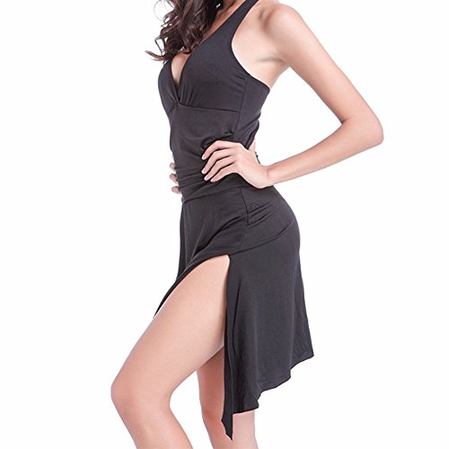Sidiou Group 5 Bañador de mujer, una variedad de nuevos bañadores de una pieza, traje de baño de 90% poliéster, Falda combinada / bañador de playa negro