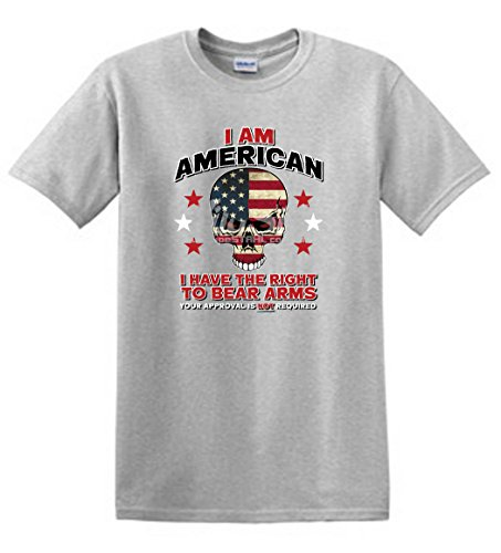 - Shirt Patron Guns 2nd Amendment I Am American Right To Bear Arms Mens T Shirt (4XL, Ash)