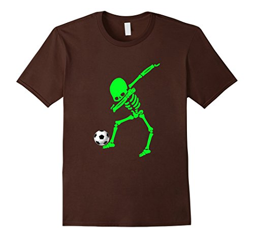 Mens Halloween Dabbing Skeleton Soccer Shirt Dab Pose Soccer Ball 3XL (Football Related Halloween Costumes)