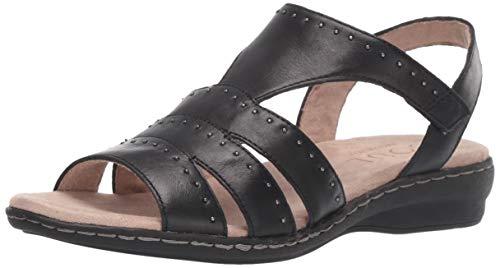 SOUL Naturalizer Women's BEACON Sandal, BLACK, 10 M US
