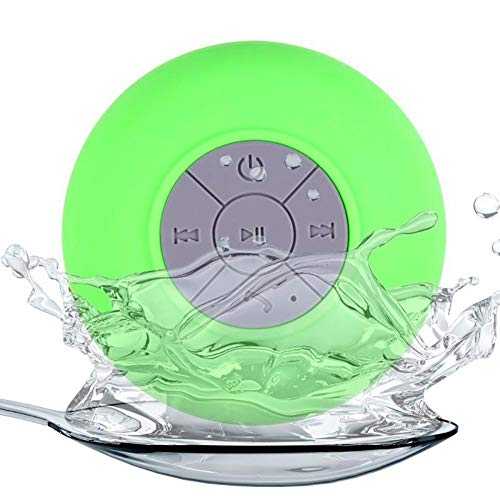 Mini Portable Bluetooth Speakers Waterproof Shower Pool Wireless Outdoor Travel Speaker with Suction Cup Handsfree, Built-in Microphone for Calls for iPhone, iPod, iPad, Samsung, Echo, LG and others