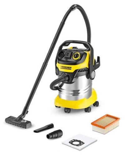 Kärcher WD 5 P Premium Drum 25L 1100W Black,Yellow - vacuum cleaners (Drum, Dry&Wet, Professional, Hard floor, Black, Yellow, Plastic)
