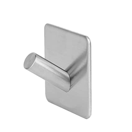 Shpior Accesorios de baño 304 Acero inoxidable 3M Gancho autoadhesivo Sombrero Rack para llaves Baño Cocina