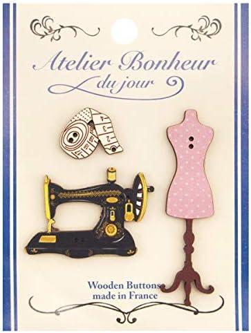 フランス製 木製ボタンセット (裁縫セット) アトリエ・ボヌール・ドゥ・ジュール ATLIERSET015