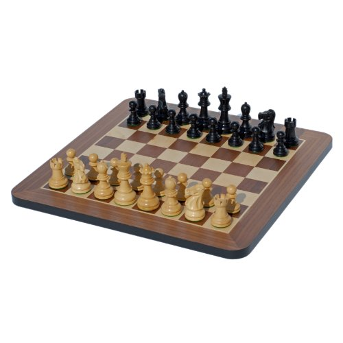 - Black Stained Wood 16 inches  Staunton Chess Set