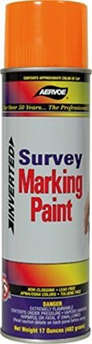 Aervoe 222 Fluorescent arancia Survey Marking Paint   20-oz Cans (17-oz net weight)   12 Can Case by Aervoe