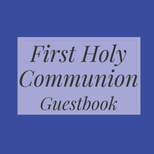 First Communion Photo Invitations - First Holy Communion Guestbook: Royal Blue