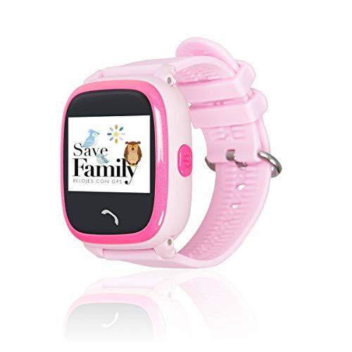 Reloj con GPS para niños SaveFamily Modelo Completo, smartwatch con Boton SOS, Permite Llamadas y Mensajes. Resistente…