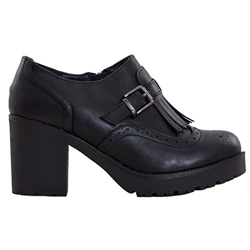 Toocool - Chaussures En Cuir Synthétique Noir Femmes Noires 37 o0Mqs