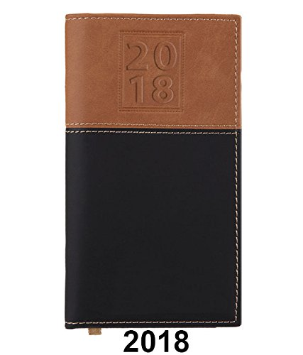 BookFactory 2018 Weekly Pocket Calendar / 2018 Calendar / 2018 Weekly Calendar / Weekly Planner Organizer - Calendar with Notepad (CAL-2018-POCKET(Organizer)) Blind Embossed