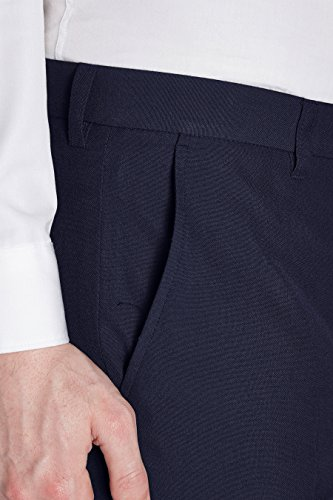 next Homme Pantalon sans pinces Bleu Marine 26 / Regular - Slim Fit