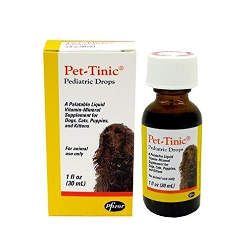 - Pet-Tinic Pediatric Drops for Dogs, Cats, Puppies and Kittens, 1 oz. (30 ml) by Unknown
