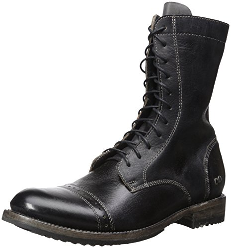 Bed Stu Men's Hendrix Combat Boot, Black Rustic, 10 M US - Hendrix Boot