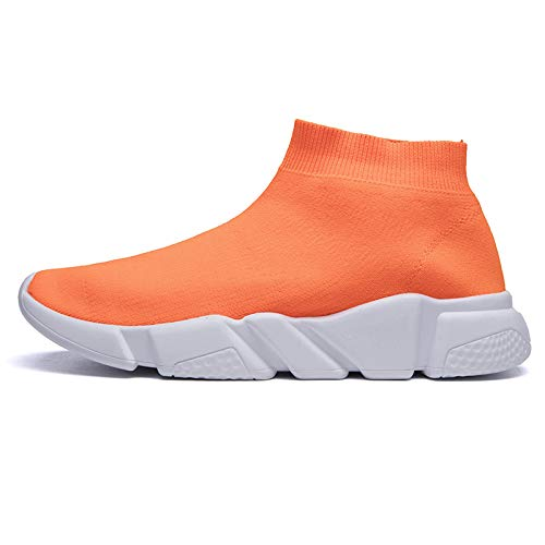 Msanlixian Sock Sneakers Men Tenis Men Shoes Casual Mesh Luxury Breathable Footwear Male Shoes Human Mixed Colors Krasovki Orange-2 6.5 (Best Numbers For Lotto Max)