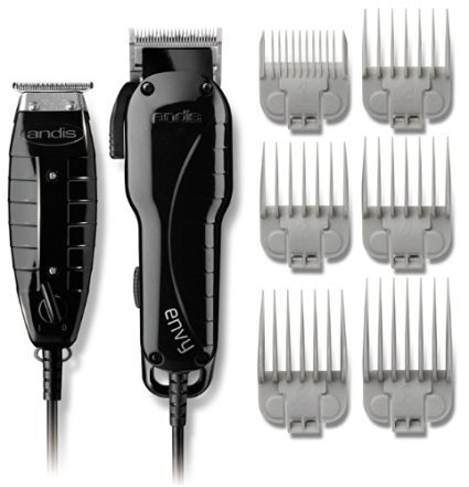 tylist Clipper and Trimmer Combo Kit, High Speed Whisper Quiet Magnetic Motors with Ergonomic Design, Clipper has Adjustable Blade with 6 Comb Attachments Size 1/8