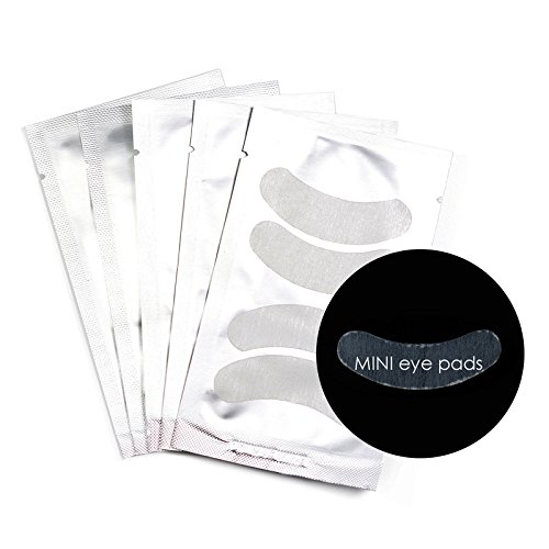 40 Pairs (20 packs) LashArt Eyelash Extension Mini Under Eye Gel Pads Lint Free Patches by LashArt