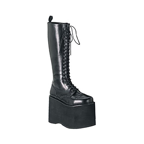 Pleaser Mens Mega Plateforme Boot Noir Pu