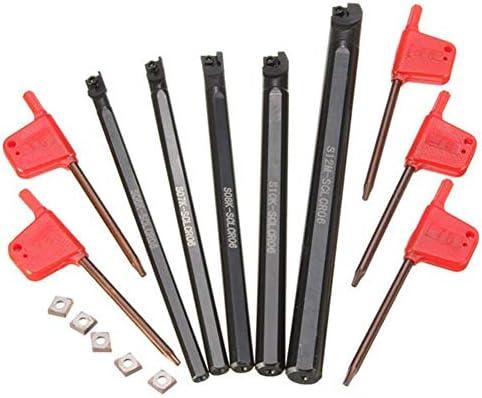 Qualitäts-CNC-Drehmaschine Werkzeug-Zubehör Drehmaschine Bohrstange Tunring Werkzeug mit 5pcs CCMT0602 Insert SCLCR 6/7/8/10 / 12mm 5pcs